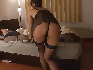 Stockinged mother getting fucked