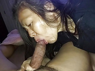 Wife estimates a cock by mouth