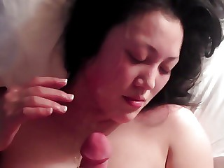 Tender asian lady gets cum